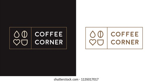 Coffee corner logo Design with modern and vintage concept