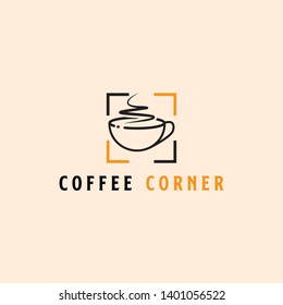 Coffee Corner Logo design, modern and clever vector style - can used modern restaurant,shop,cafe logo