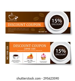 coffee coupon discount template design