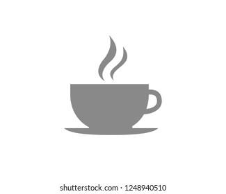 Coffee cup Flat symbol vector icon.