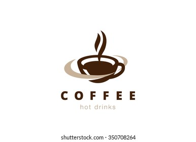 Coffee cup foam Logo design vector template.