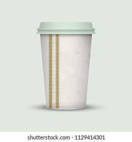 Coffee cup to go. creative coffee cup template