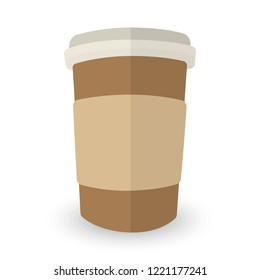 Coffee cup. Hand drawn vector illustration with coffee cup and divergent rays. Used for poster, banner, web, t-shirt print, bag print, badges, flyer, logo design and more.