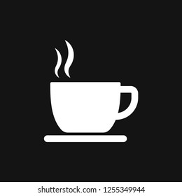 Coffee cup icon. Coffee drink vector symbol stock web illustration.