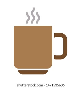 coffee cup icon. flat illustration of coffee cup - vector icon. coffee cup sign symbol