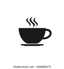 Coffee cup icon. Coffee icon isolated on white background