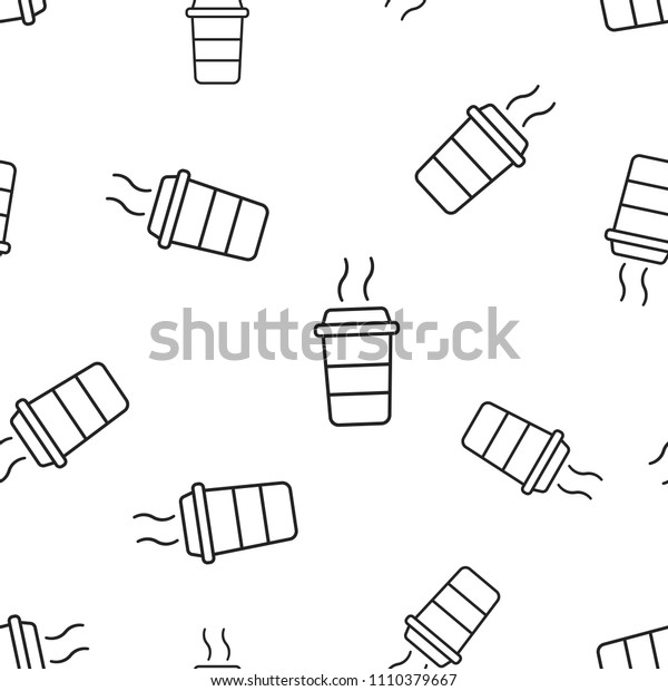 Coffee cup icon seamless pattern background. Business concept vector illustration. Coffee mug symbol pattern.