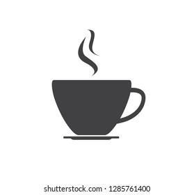 Coffee cup icon. Vector illustration