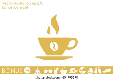 coffee cup icon vector illustration eps10