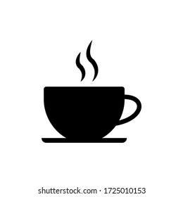 Coffee cup icon vector isolated on white background.