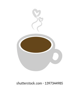 coffee cup icon vector, tea solid logo illustration, pictogram coffee isolated on white