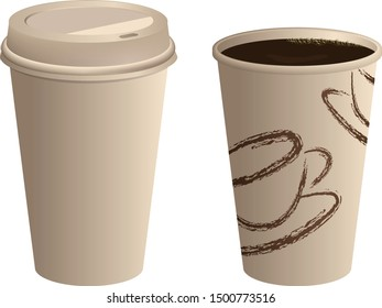 Coffee cup illustration template vector