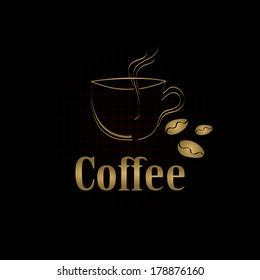 coffee cup label concept menu. Vector