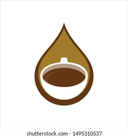 Coffee and Cup Logo. Cafe Symbol. Icon Vector Eps 10.