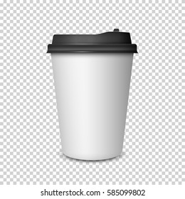 Coffee Cup on transparent background.3d Coffee Cup Mockup. Vector Template