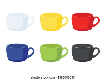 coffee cup on white background illustration vector
