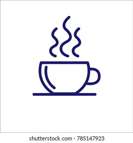 Coffee cup outline icon.