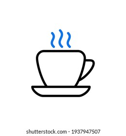 Coffee cup outline icon. Business sign. Graph symbol for your web site design, logo, app, UI. Vector illustration, EPS10.