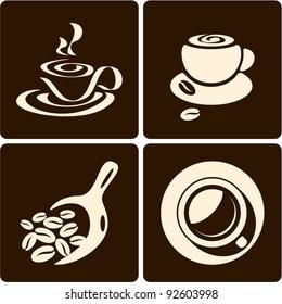 Coffee cup. Coffee scoop
