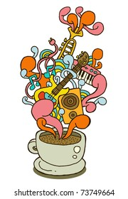 coffee cup series - music