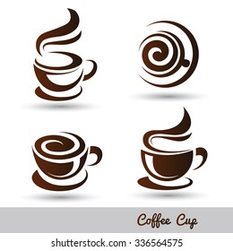 coffee cup set vector,illustration