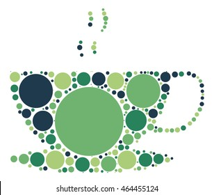 coffee cup shape vector design by color point