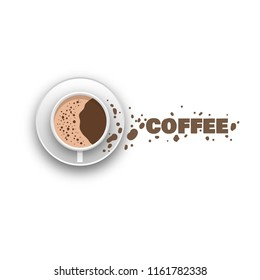 Coffee cup and spray