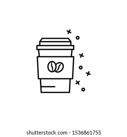 Coffee cup, take away, drink icon. Simple line, outline vector of coffee icons for ui and ux, website or mobile application