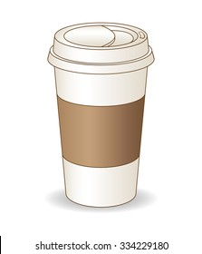 A coffee cup. Vector illustration.