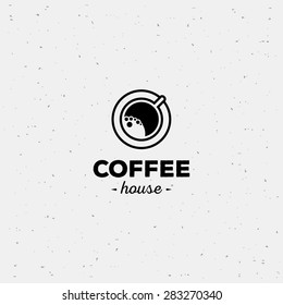 Coffee cup vector logo design template. Vector coffee shop labels.
