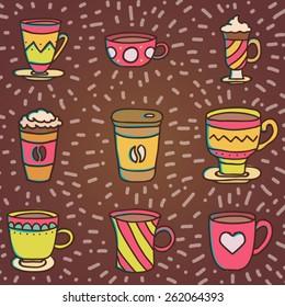 Coffee cups illustration