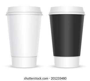 Coffee cups. Two color variations. Isolated on white background