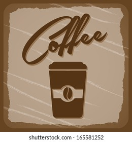 coffee design over brown background vector illustration