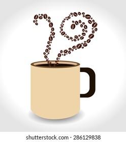 Coffee design over white background, vector illustration.