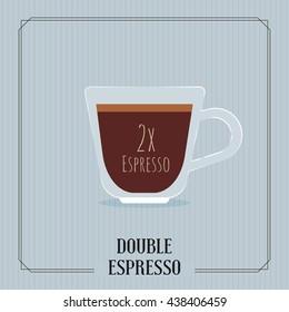 Coffee Double Espresso illustration.