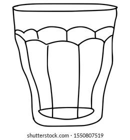 coffee drink glass vector illustration