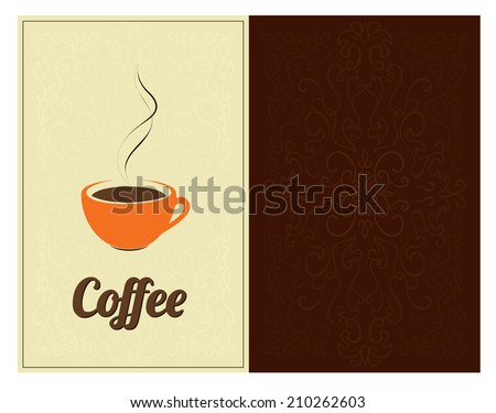 coffee drinks menu cover design template stock vector royalty free