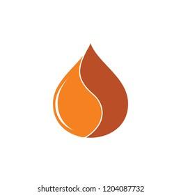 coffee drop water logo vector