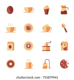 Coffee Elements and Coffee Accessories Illustration can be used as Logo or Icon