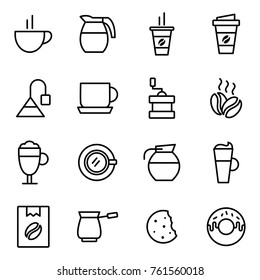 Coffee Elements and Coffee Accessories Illustration can be used as Logo or Icon.