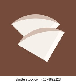 Coffee filter vector, coffee related flat design icon
