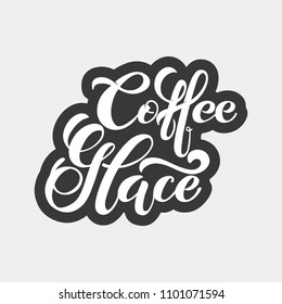 Coffee glace logo. Types of coffee. Handwritten lettering design elements. Template and concept for cafe, menu, coffee house, shop advertising, coffee shop. Vector illustration.