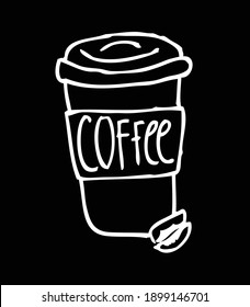 Coffee to go emblems. Handmade typography for cafe advertising prints posters t-shirt design. Vector vintage illustration.