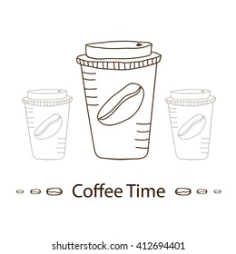 Coffee to go. Vector illustration.