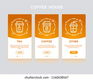 Coffee house, application onboarding.