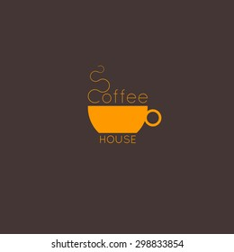 coffee house logo. cup and coffee illustration