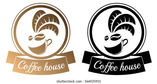 Coffee house logo on a white background