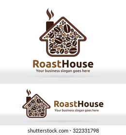 Coffee house Roast bean store shop factory Cafe logo brand product