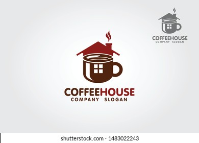 Coffee HouseVector  Logo Template. This logo is suitable for cafe, restaurant, drink product, shop, business, company, etc.