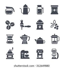Coffee Icon on White Background